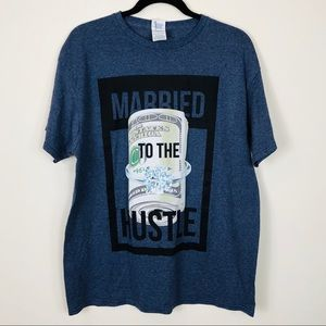 Married To The Hustle T-Shirt Size Large